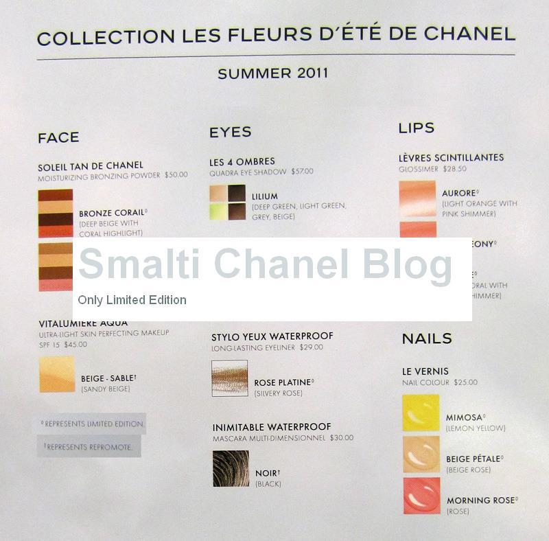 Chanel anteprima collezione Les Fleurs d'été (1/3)